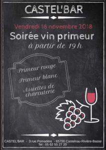 Soirée Vin Primeur @ Castel'Bar | Castelnau-Rivière-Basse | Occitanie | France