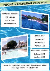 affiche Piscine 2019 Castelnau RB