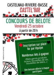 Concours de Belote @ Castel'Bar